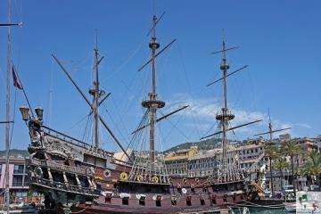 Il Galeone di Genova, l'antico vascello che ha interpretato la Jolly Roger