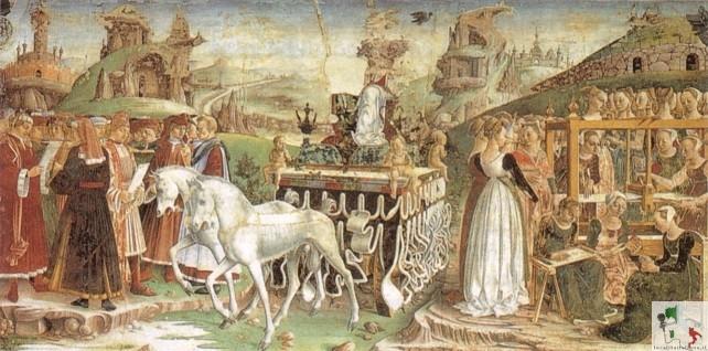 affreschi del palazzo
