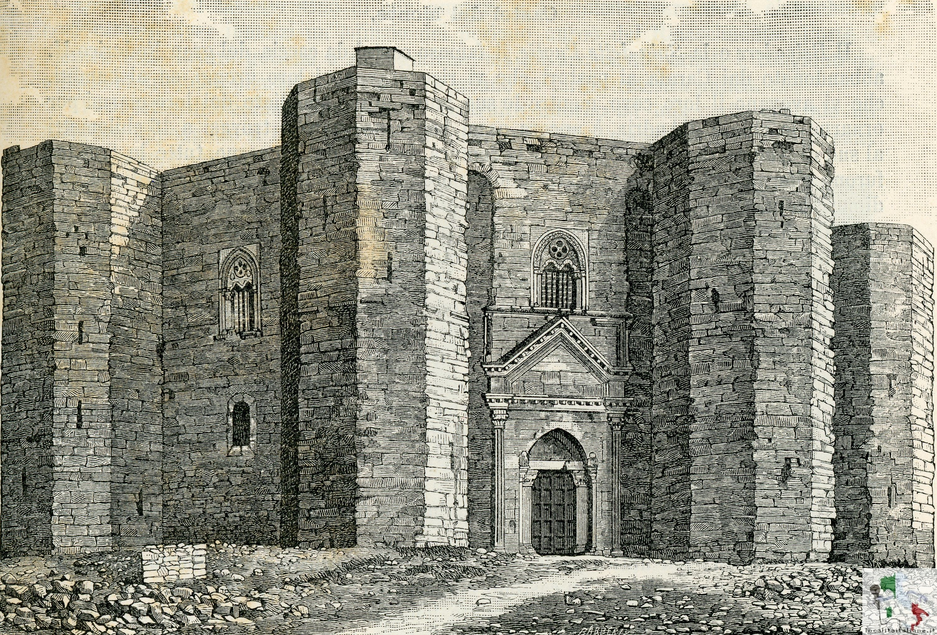 il castello in una foto d'epoca
