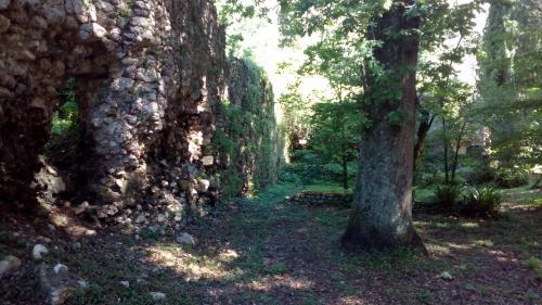 giardini di ninfa - roccia