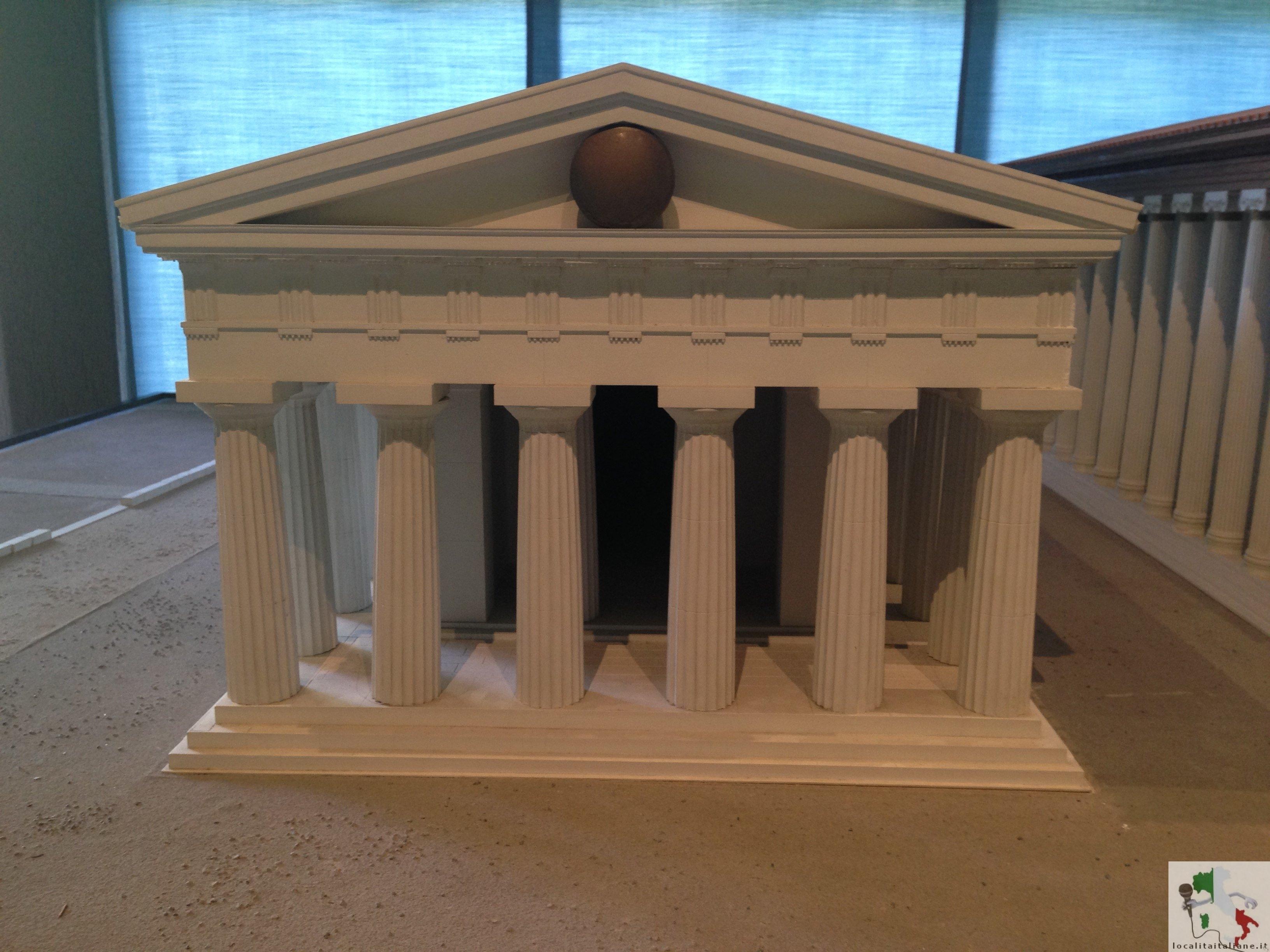 ricostruzione del tempio di Atena