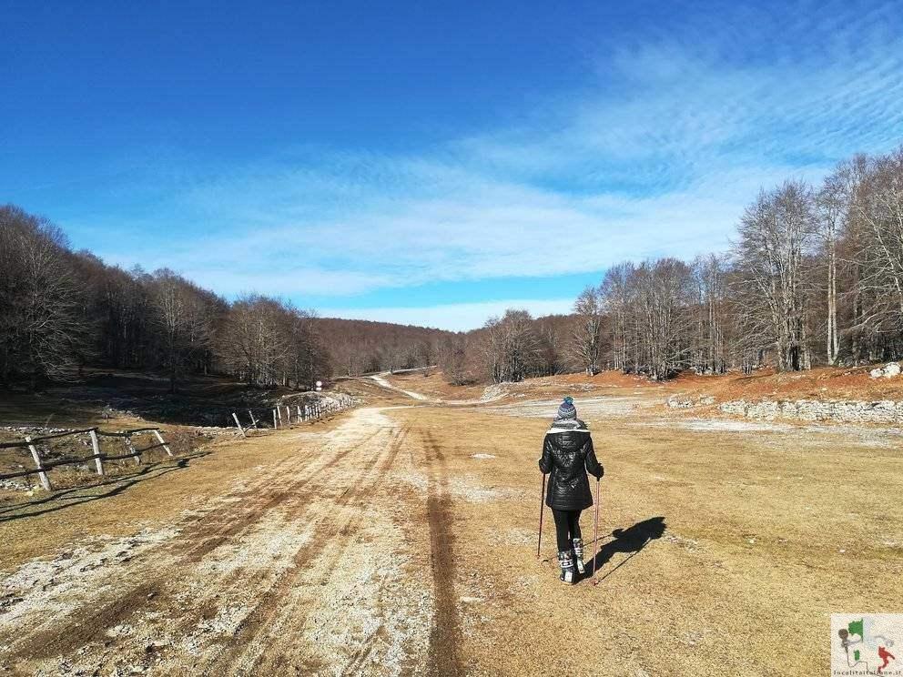 Passeggiata invernale in montagna